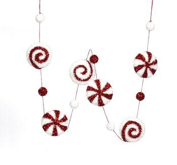 Handmade Holiday Christmas 74'' Candy Cane Garland