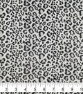 Soft & Comfy Fleece Fabric-Gray Leopard on White