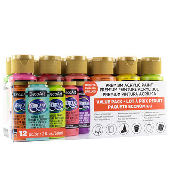 DecoArt Americana Acrylic Paint Value Pack 12/Pkg