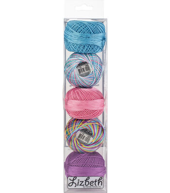 Handy Hands Lizbeth 5 pk Cordonnet Cotton Threads Size 10-Summer