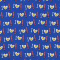 Snuggle Flannel Fabric-I Heart Bacon