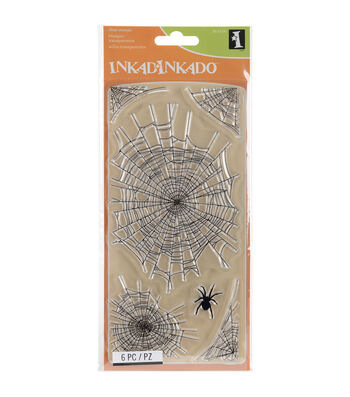 Inkadinkado Clear Stamps-Spider Webs