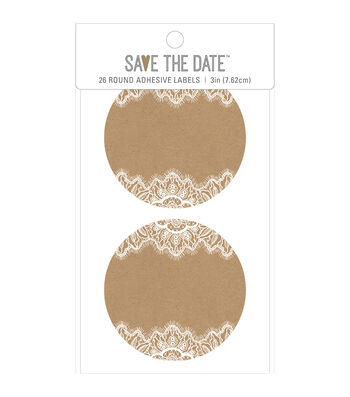 American Crafts Rustic Adhesive Labels-Oval