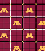 "University of Minnesota Gophers Flannel Fabric 42""-Plaid, , hi-res"
