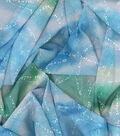 Kathy Davis Chiffon Apparel Fabric 57\u0027\u0027-Starfish on Blue