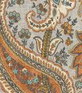 Williamsburg Multi-Purpose Decor Fabric 54\u0027\u0027-Persimmon Plumtree Paisley