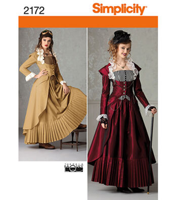 Simplicity Pattern 2172-Misses' Steampunk Costume