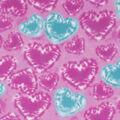 Anti-Pill Plush Fleece Fabric-Tie Dye Hearts on Pink