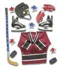 Jolee\u0027s Boutique 7 pk Dimensional Stickers-Ice Hockey