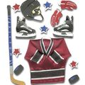Jolee\u0027s Boutique 7 pk Dimensional Stickers-Ice Hockey
