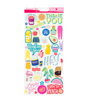 "American Crafts Damask Love 6""x12"" Sticker Sheet, , hi-res"