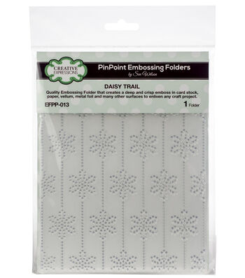 """Creative Expressions PinPoint Embossing Folder 5.75""""x7.5""""-Daisy Trail"""