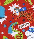 Snuggle Flannel Fabric -Super Animals