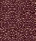 Home Decor 8\u0022x8\u0022 Fabric Swatch-Print Fabric Eaton Square Etching Wine