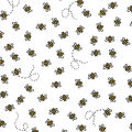 Nursery Cotton Fabric-All Over Bees