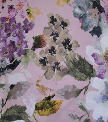 Gianna Printed Georgette Fabric 43''-Shell Abstract Floral