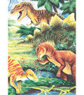 Royal Brush 5\u0022x7\u0022 Colour Pencil By Number Kit-Dinosaur Fun