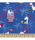Patriotic Cotton Fabric 43\u0027\u0027-Peanuts & Fireworks