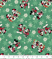 Disney Mickey & Minnie Flannel Fabric-Snowflake Toss, , hi-res