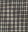 Homespun Cotton Fabric 44\u0022-Gray & Cream Crosshatch