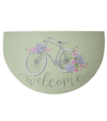 Hello Spring Gardening Rubber Door Mat-Welcome & Bicycle