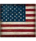 Vintage Flag Post Bound Scrapbook 12\u0022X12\u0022-