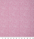 Keepsake Calico Cotton Fabric-Pink & Glitter Scattered Dots