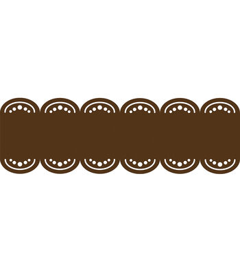 Wall Pops Espresso Brown Stripe Decals, 24 Feet