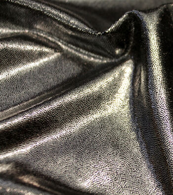 Performance Mystique Fabric -Black & Silver