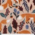 Anti-Pill Plush Fleece Fabric-Fox And Berries