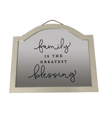 Simply Spring Mirror Wall Decor-Family is the Greatest Blessing