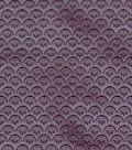 Vintage Cotton Fabric 43\u0022-Floral Scallops Light Purple