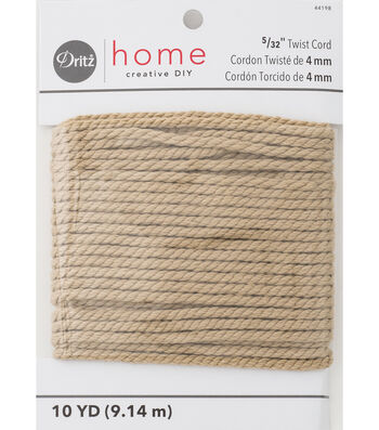 Polyester Cord 4Mm X 10 Yds Natural