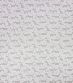 Super Snuggle Flannel Fabric-Sketch Dog Gray