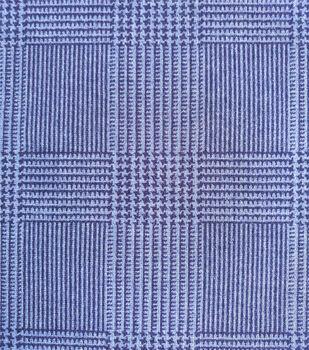Refined Ponte Knit Fabric-Navy Glen Plaid