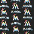 Miami Marlins Cotton Fabric -Logo Block
