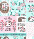 Nursery Flannel Fabric-Hanna Floral Patchwork Print