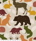 No Sew Fleece Throw Kit 48\u0022-Woodland Animals Patterns