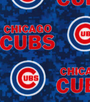 Chicago Cubs Fleece Fabric -Digital Camo, , hi-res