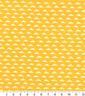 Quilter\u0027s Showcase Fabric -Triangle Geometric on Amber Yellow
