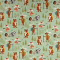 Super Snuggle Flannel Fabric-Woodland Animal Campers