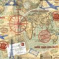 Novelty Cotton Fabric-Journey Around the World