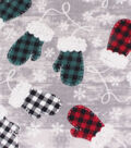 Anti-Pill Plush Fleece Fabric-Buffalo Check Mittens