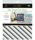 Deco Foil 4 pk 8.5\u0027\u0027x11\u0027\u0027 Clear Designer Toner Sheets-Pinstripes
