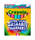 Crayola Ultra-Clean Color Max Conical Tip Washable Markers-Tropical