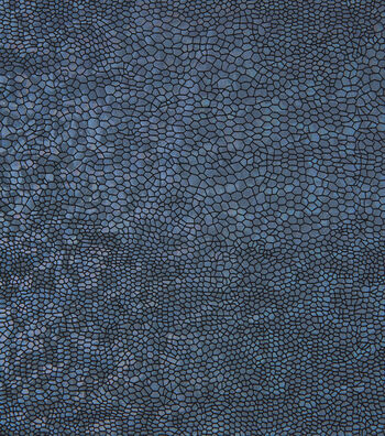 Yaya Han Cosplay Holographic Scales Stretch Fabric-Blue