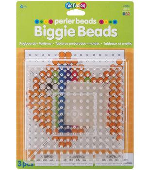 "Perler Biggie Bead Pegboards 2/Pkg-Clear 5.75""x5.75"""