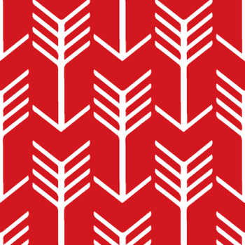 Arrow Stripe Red and White