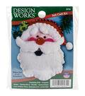 Design Works Christmas 3\u0027\u0027x4\u0027\u0027 Santa Face Ornament Felt Craft Kit