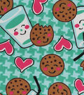 Snuggle Flannel Fabric -Milk & Cookies